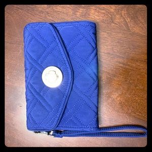 Vera Bradley Quilted Wristlet Cellphone Wallet